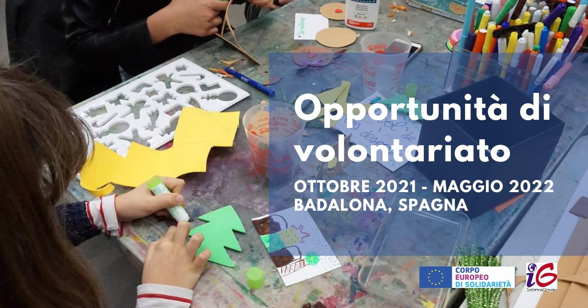 Opportunità di volontariato ESC in Spagna nel campo dell'animazione giovanile