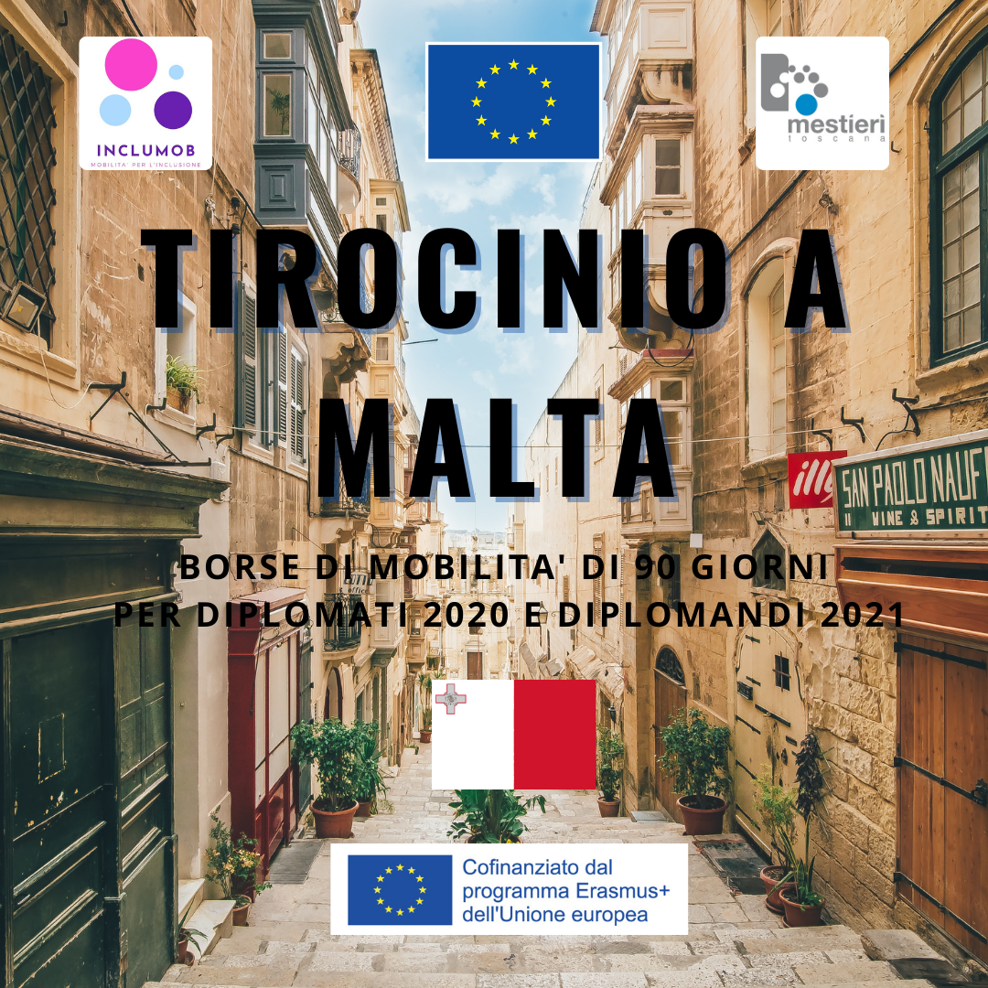 Tirocini ERASMUS+ a Malta per diplomati