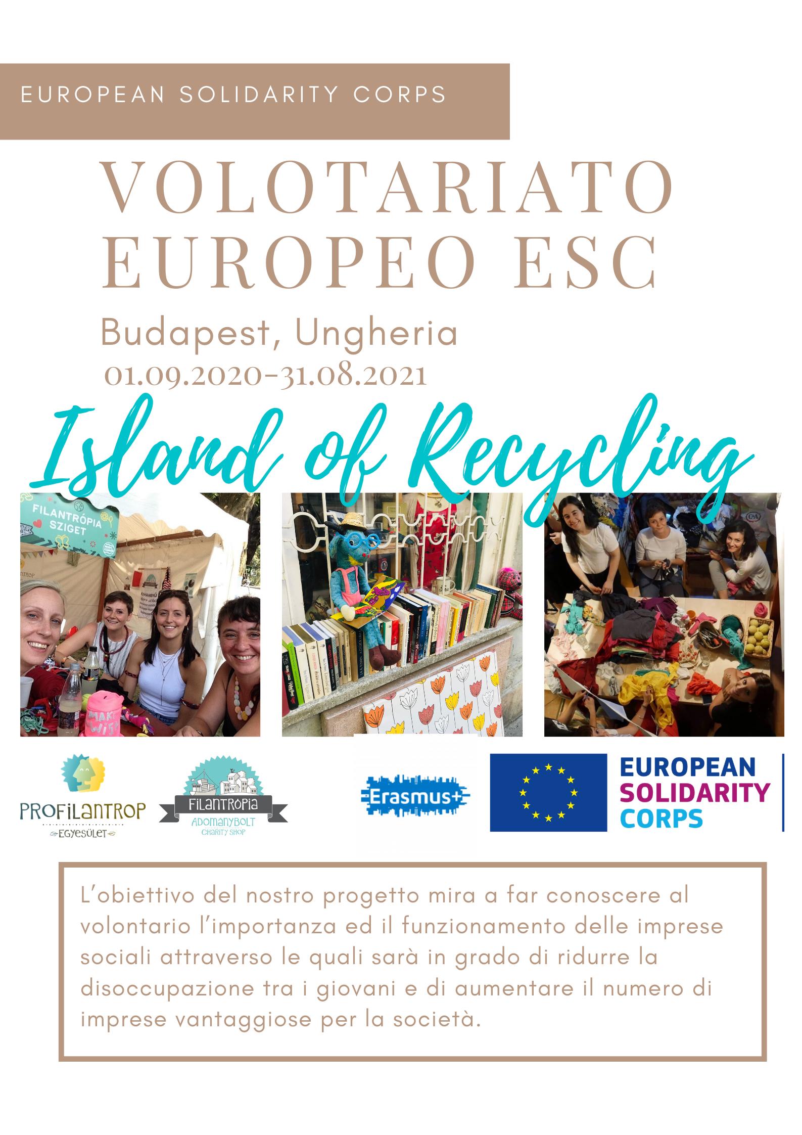 Island of Recycling - Progetto di Volontariato ESC a Budapest