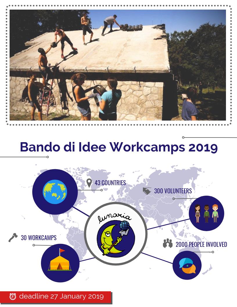 Bando di Idee 2019: Tempo di Organizzare i Campi di Volontariato