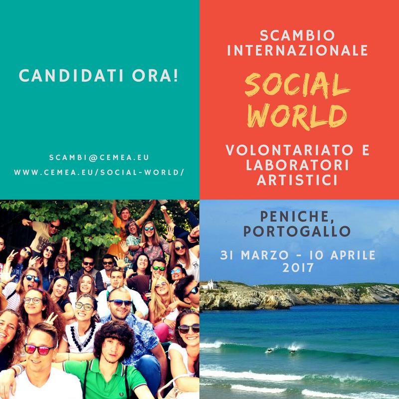 Ultimi posti per lo scambio SOCIAL WORLD in Portogallo